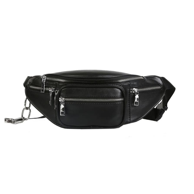 6f0576b6b050 2018 Waist Bags Women Fashion Designer Fanny Pack Vintage Pu Leather Belt  Bag Female Chains Waist Pack Bolsa Feminina bum bag