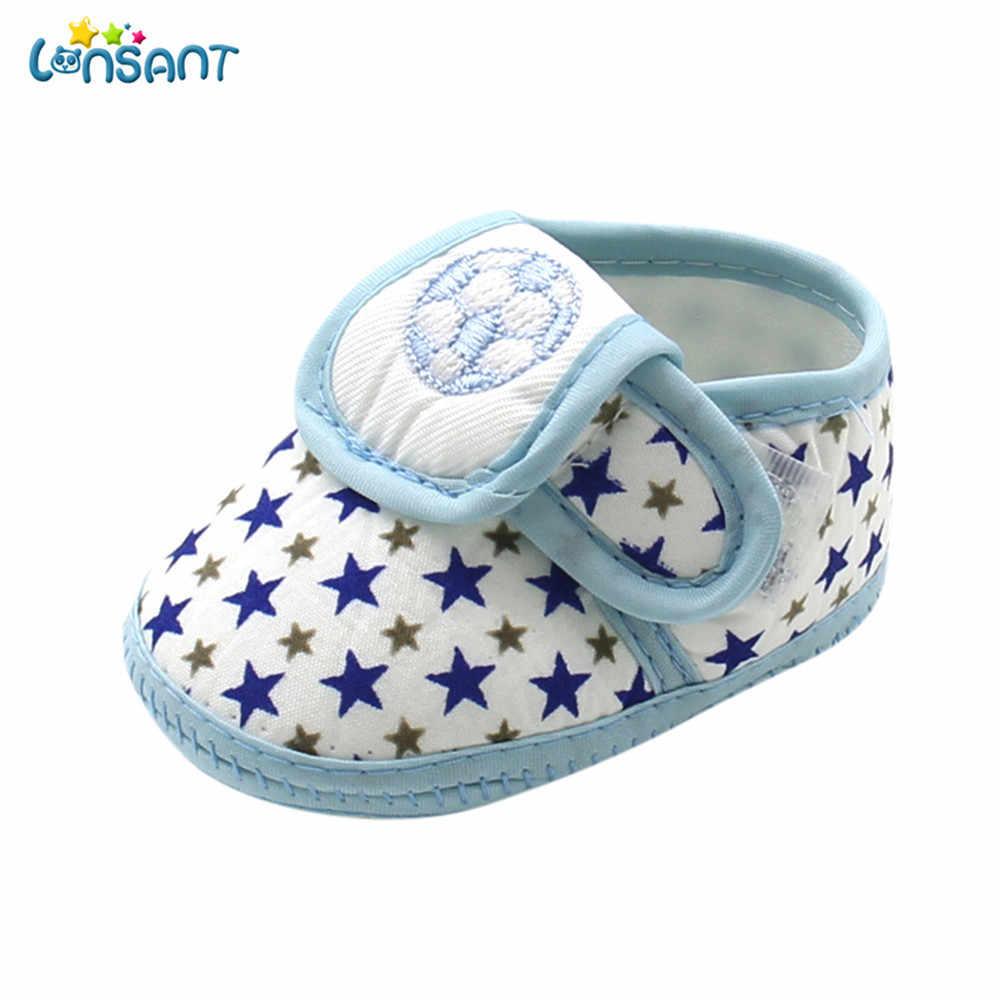 LONSANT bebé chica Bowknot borlas lentejuelas Zapatos bebé recién nacido estrella bebé niñas niños de suela suave Prewalker caliente casuales zapatos planos