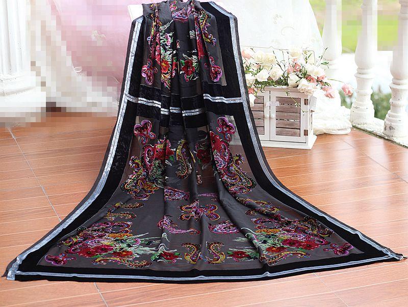 Desainer kain burnout bunga untuk menjahit rayon / kain beludru sutra - Seni, kerajinan dan menjahit