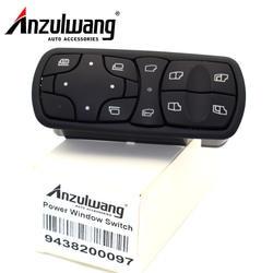 ANZULWANG A9438200097 Мощность стеклоподъемник Управление переключатель подходит для Mercedes Benz Actros MPII 9438200097