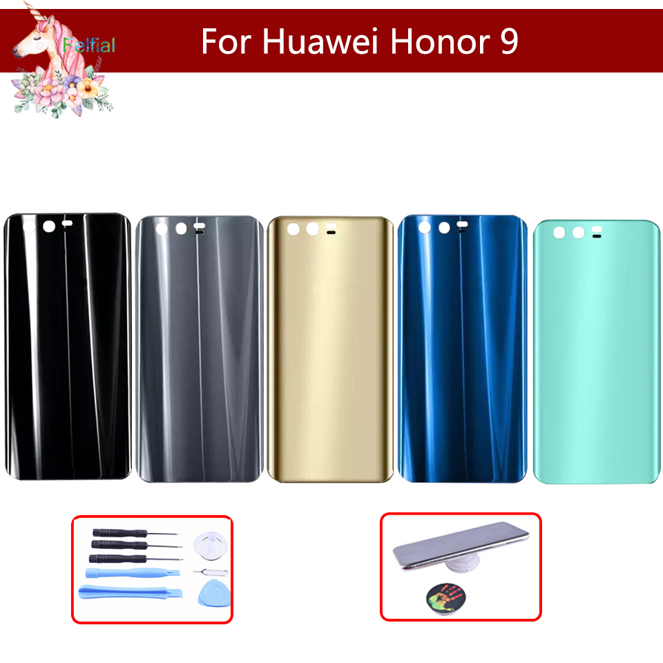 Original For Huawei Honor 9 STF-L09 STF-AL10 STF-L09 Battery Cover Back Housing Rear Door Case Battery Cover Panel Replacement
