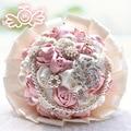 Nueva Llegada Hermosas Flores De La Boda Ramos de Novia Ramo De La Boda de Perlas de Cristal Artificial de Cristal 2017 Nuevo buque de noiva