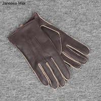 Jancoco Max 2019 Fashion Echtes Hirschleder Handschuhe Herbst Winter Im Freien Handschuhe Top Qualität Fahren Handschuh S7201