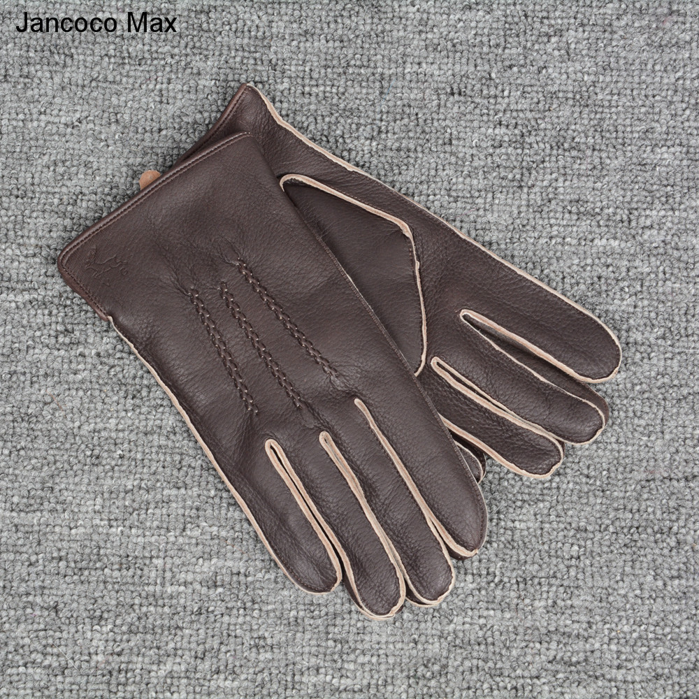 Jancoco Max 2019 Fashion Genuine Deerskin Gloves Autumn Winter Outdoor Mittens Top Quality Driving Glove S7201