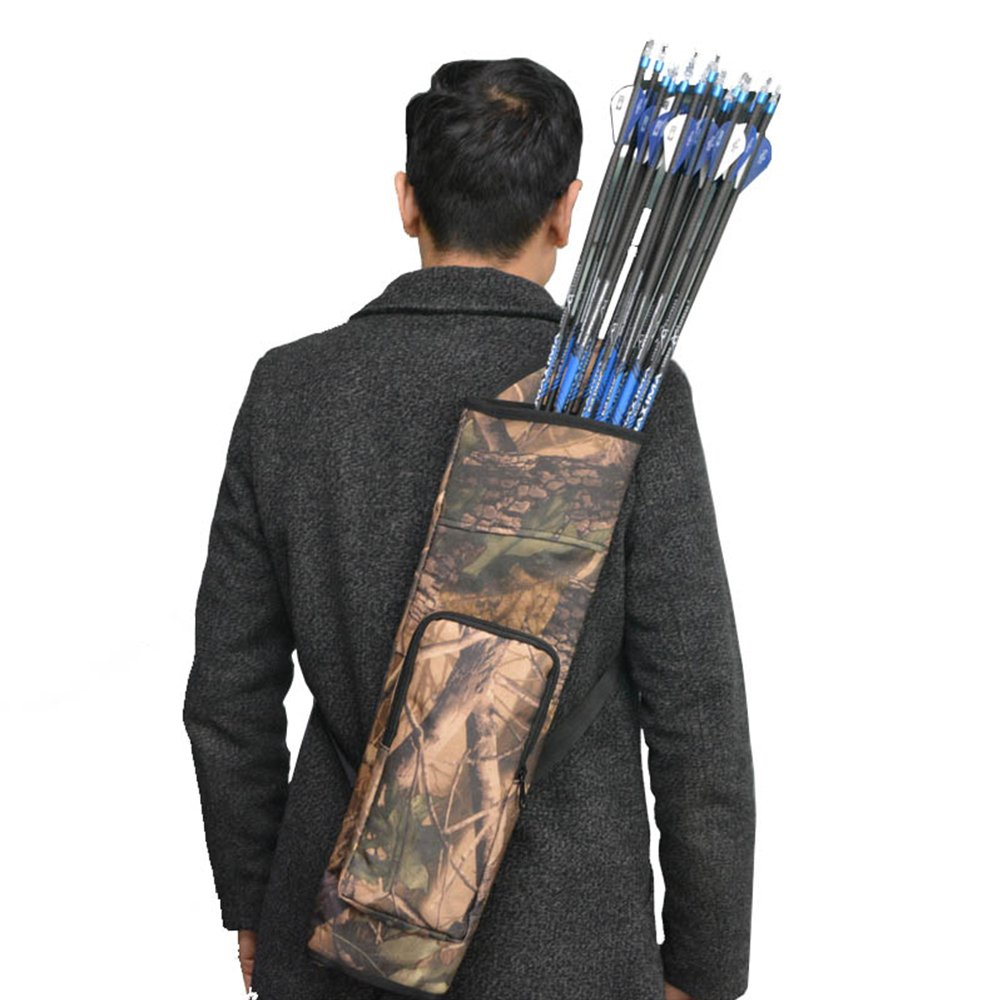 Image 5 - 1pc Archery Arrow Quiver Backpack Shoulder Bag Back Arrow Case Holder 40 Arrow Compound Recurve Bow Hunting Shooting Accessories-in Bow & Arrow from Sports & Entertainment