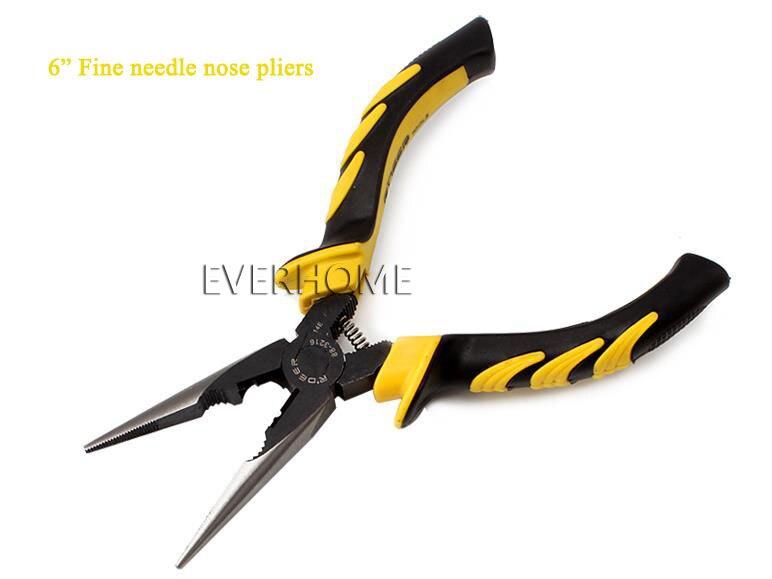 купить  Needle nose pliers handles black sand throwing 6 inch 8 inch  pliers  ,free shipping  недорого