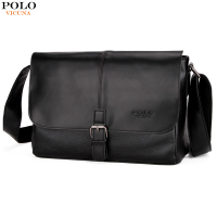 VICUNA POLO Fashion Patchwork Cool Mens Shoulder Bag With Clasp High Quality England Business Leather Mens