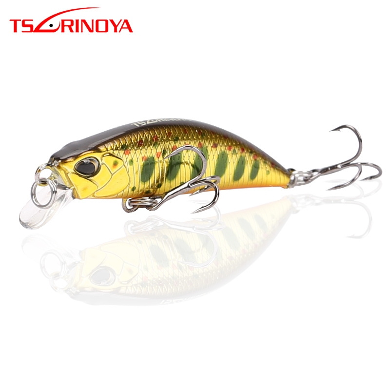 TSURINOYA Sinking Minnow Bait 5cm 5g Fishing Hard Swimbait Lures 3D Eye Lures with Movable Steel Balls Mini Minnow Fishing Lure