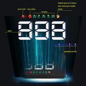 Image 3 - Universal Car HUD GPS Tachimetro Speedo Head Up Display A5 Digitale Su Allarme di Velocità Parabrezza Projetor Auto di Navigazione