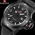 Homens esporte relógios NAVIFORCE top de luxo da marca de quartzo relógios para homens 30 M à prova d' água masculino auto data relógios de pulso relogio masculino