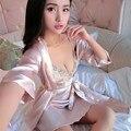 2016 summer 100% silk spaghetti strap sleep dress nightgown white black blue fuchsia pink