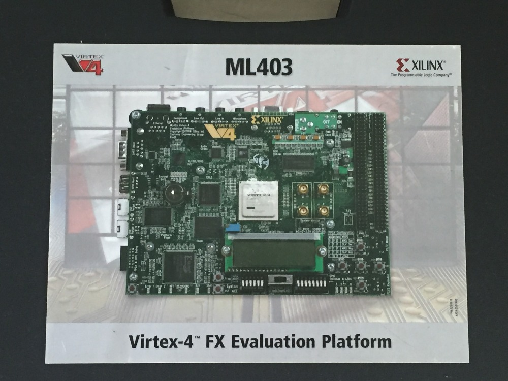 XILINX FPGA Development Board VIRTEX-4 HW-V4-ML403-G PowerPC Development Suite