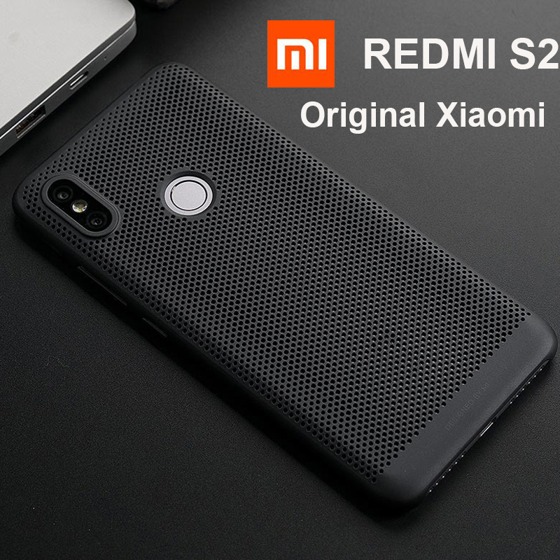"""Original Xiaomi Redmi S2 Case Cover Heat dissipation back Case 5.99"""" Cool Phone 1000 holes breathing Xiaom Redmi S2 S 2 PC shell-in Fitted Cases from Cellphones & Telecommunications"""