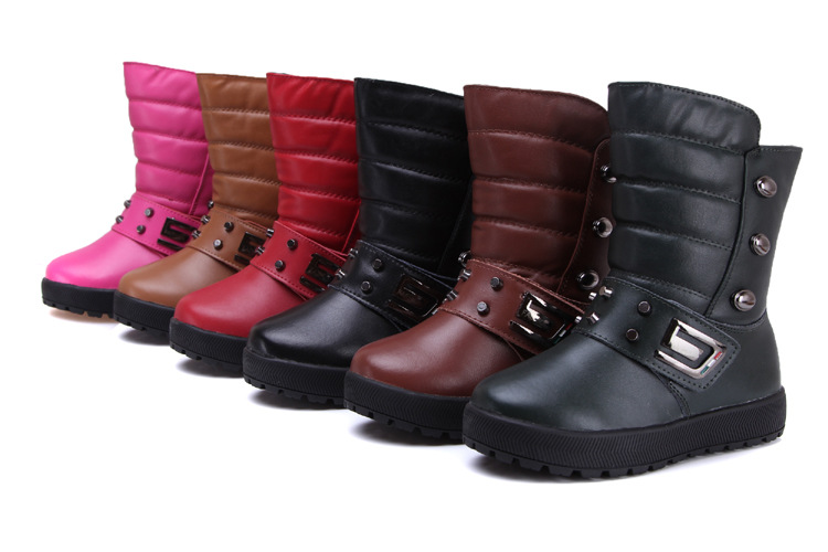 2017 new top quality children boots boys girls boots child snow boots warm cotton-padded girls shoes slip on mid calf kids boots new arrival fashion 2014 boys child boots child genuine leather boots snow boots children shoes 25 33