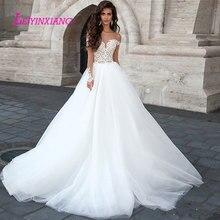 LEIYINXIANG Wedding Dress Bride Dress Ball Gown Backless