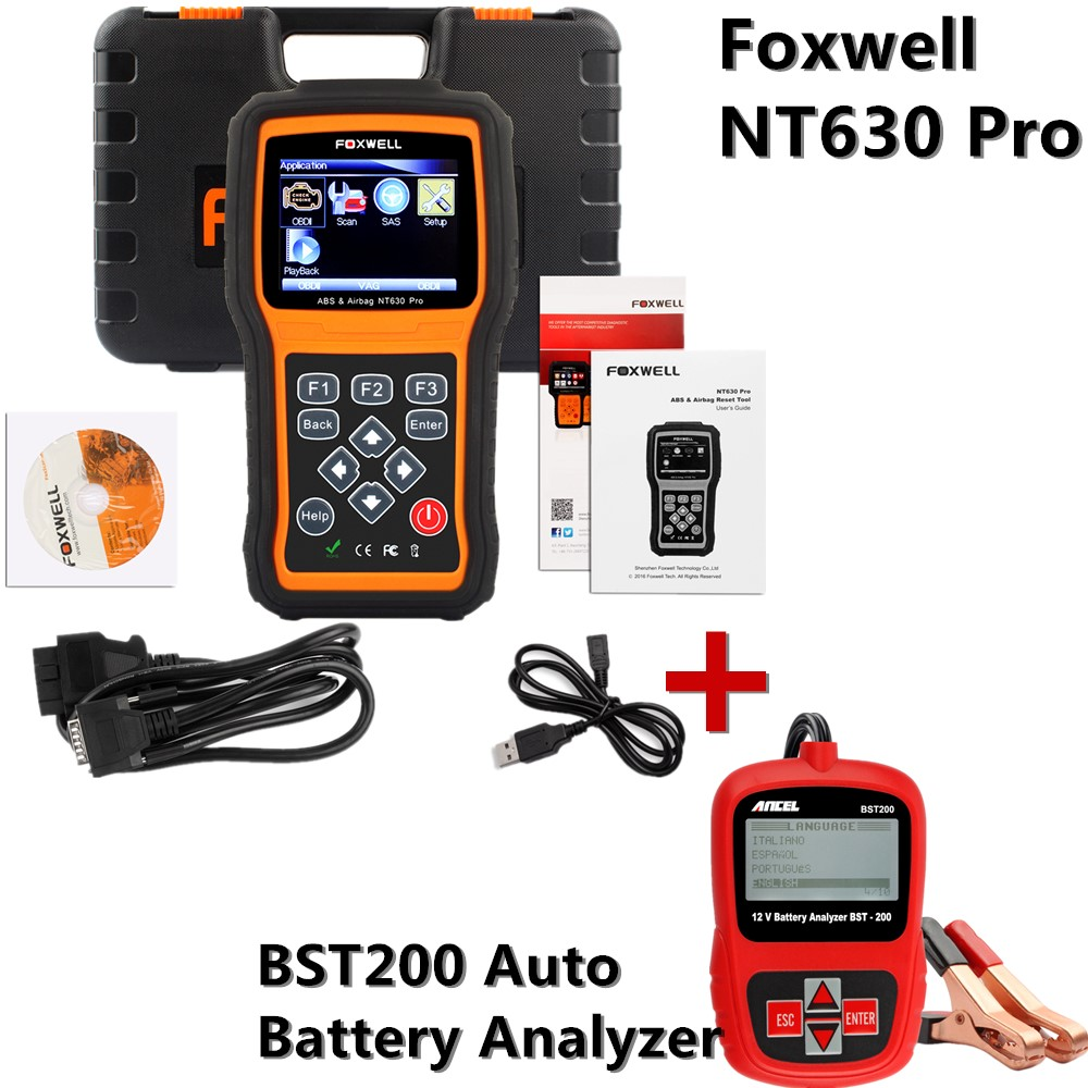 New Arrival OBD 2 Code Reader OBDII CAN ABS Airbag SRS Scan Tool OBD2 EOBDscanner Battery