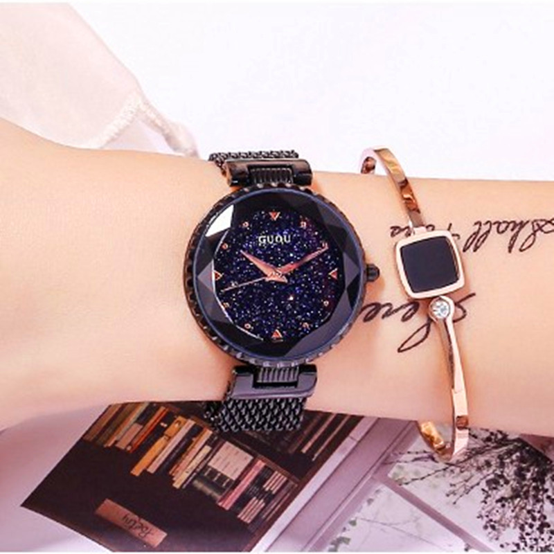 Top Brand Black Quartz Watches Women Luxury Stainless Steel Wristwatch Clock Ladies Crystal Watch Dress Watch Woman montre femme fashion women watches women crystal stainless steel analog quartz wrist watch bracelet luxury brand female montre femme hotting