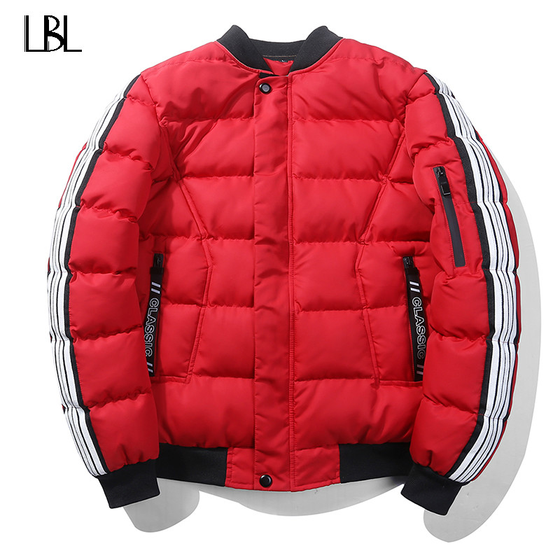 Bomber Jacket Men Russia Size Winter Jaqueta Masculin Warm Coat Mens Jacket Parka Cotton Men Slim Fit Thick Wadded Jacket Coats