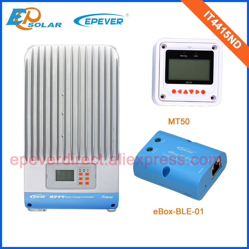 45A controller for solar PV panel system use MPPT solar tracking controller IT4415ND 48V 36V Auto work MT50 meter and BLE