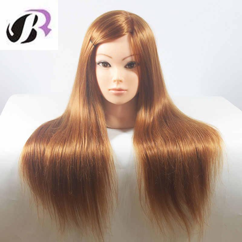 """Eğitim Kafa Saç Kadın Makyaj Model 26 """"uzun Saç Manken Kafa Saç Kesme Güzellik Salonu Manken Kafası ücretsiz Tutucu"""