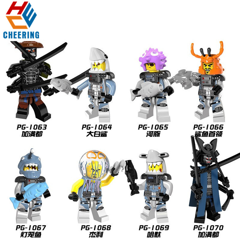 PG8074 Single Sale Figures Famous Movie Enemy Jungle Garmadon The Wei Snake <font><b>70612</b></font> Model Building Blocks For Kids Toys Gift image