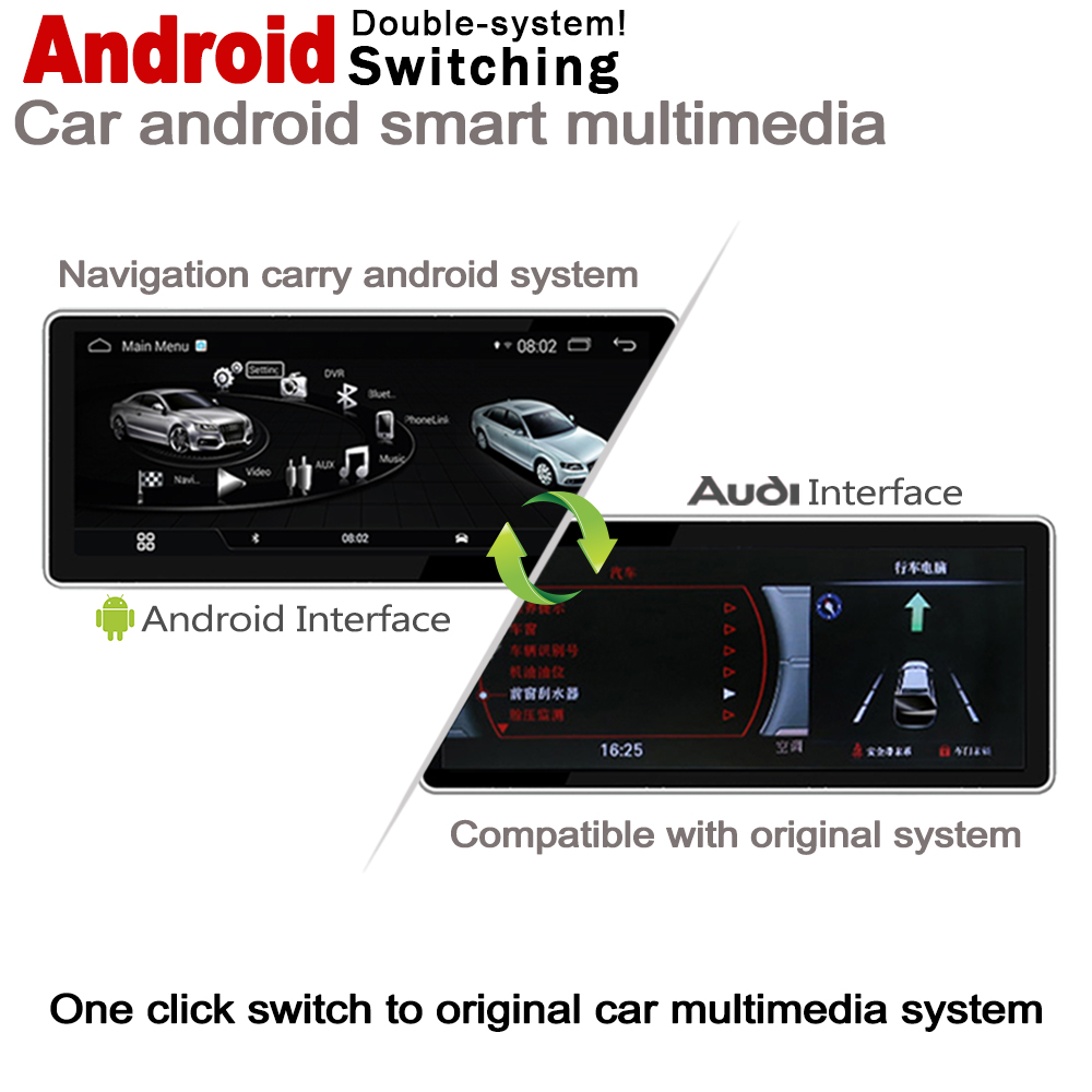 IPS Android 8 0 up Car Multimedia Player GPS Navigation For Audi A6 4G 2011 2018 MMI Original Style HD Screen 2GB 32GB WiFi in Car Multimedia Player from Automobiles Motorcycles