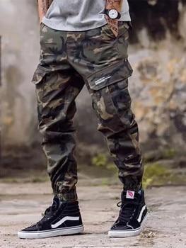 pantalones militar verano Hip hombres Cut Boot de vaqueros tobillo casuales Jogger camuflaje Hop Hombre pantalones 2018 pantalones banda Streetwear Vaqueros XFwOvaax