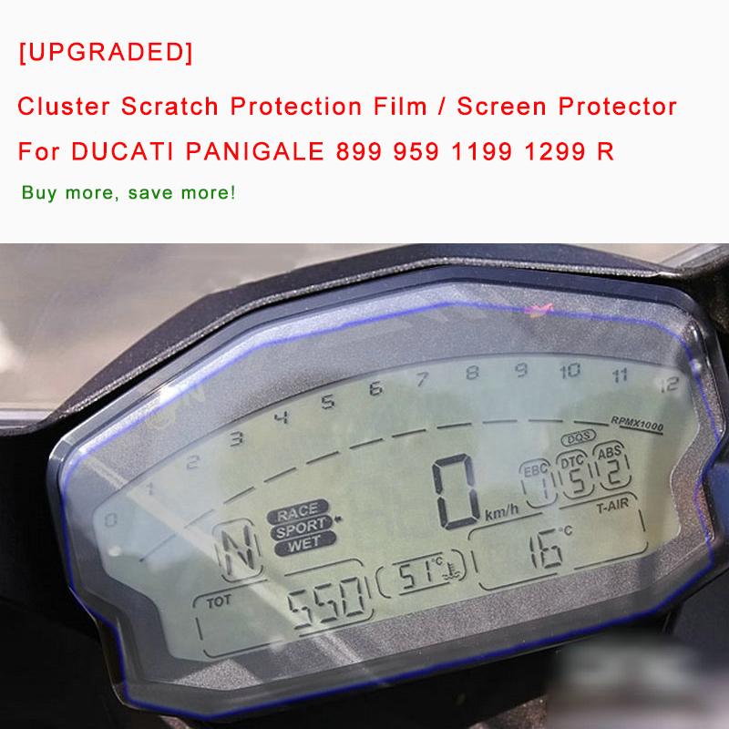[UPGRADED] For DUCATI PANIGALE 899 959 1199 1299 R Cluster Scratch Protection Film Screen Protector Blue Light Explosion-proof brake clutch lever for ducati 848 evo 749 9991098 1198 s r 899 959 1199 1299 panigale motorcycle adjustable folding extendable