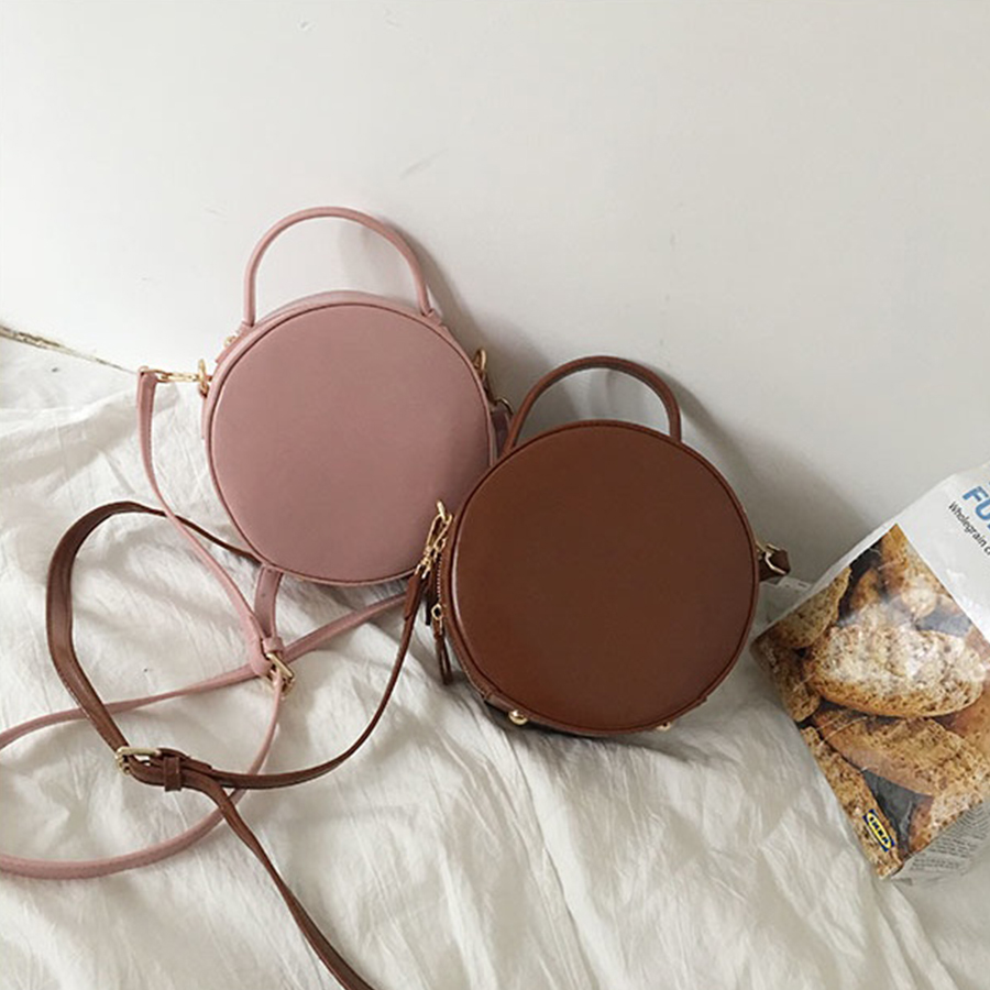 Brand 2019 Chic Round Handbags Women High Quality PU Leather Women Bag Round Cute Girl Shoulder Messenger Female Bag Sac Bolsa