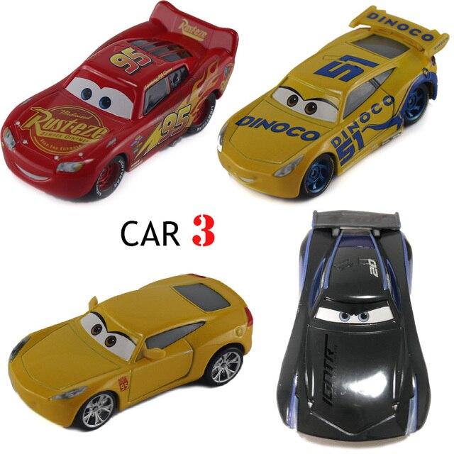 Disney PIXAR CARS 3 RUSTEZE BLITZ McQUEE DINOCO CRUZ RAMIREZ Jackson Schwarz Sturm 1:55