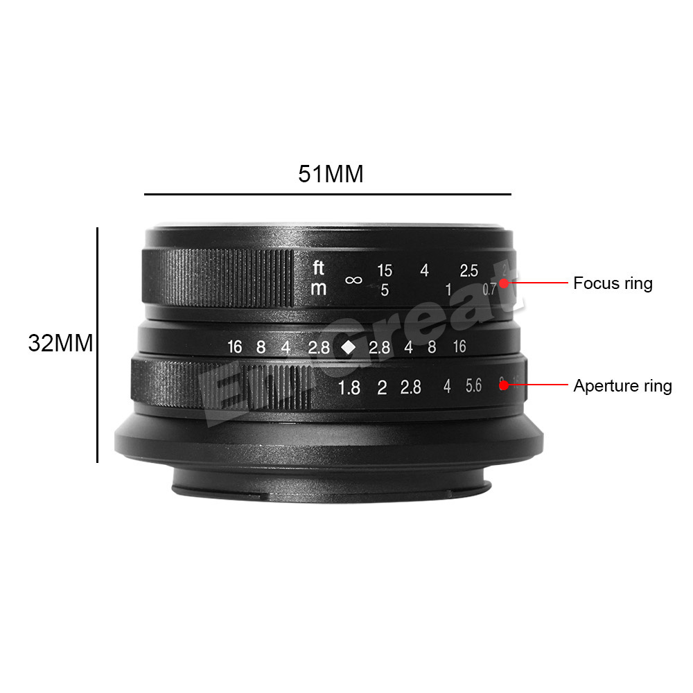 Image 5 - 7artisans 25mm / F1.8 Prime Lens to All Single Series for E Mount / for Micro 4/3 Cameras A7 A7II A7R A7RII X A1 X A2 G1 G2 G3-in Camera Lens from Consumer Electronics