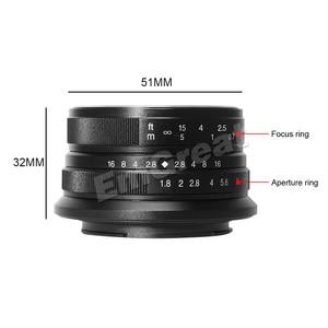 Image 5 - 7artisans 25mm / F1.8 objectif principal à toutes les séries simples pour monture E/pour Micro 4/3 caméras A7 A7II A7R A7RII X A1 X A2 G1 G2 G3
