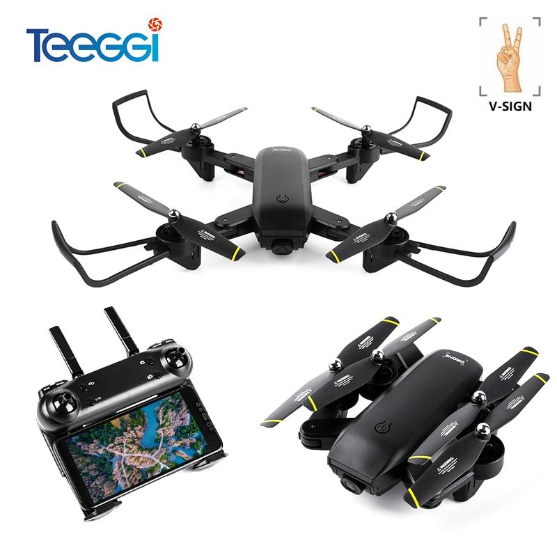 Selfie profissional Óptico Siga-me RC Quadcopter Drone com Câmera Dupla HD 1080 p FPV Helicóptero VS VISUO XS809S SG700 e58