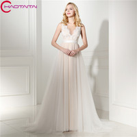 Wedding Dresses 2018 New Simple Lace Long Cheap Elegant Beach Wedding Gowns Bohemian Bride Dresses For Bride