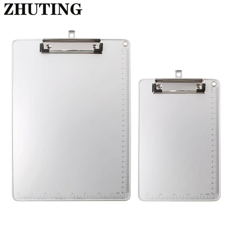 Portable A4 A5 Aluminum Alloy Writing Clip Board Antislip File Hardboard Paper Holder for Office School Stationery Supplies in Clipboard from Office School Supplies