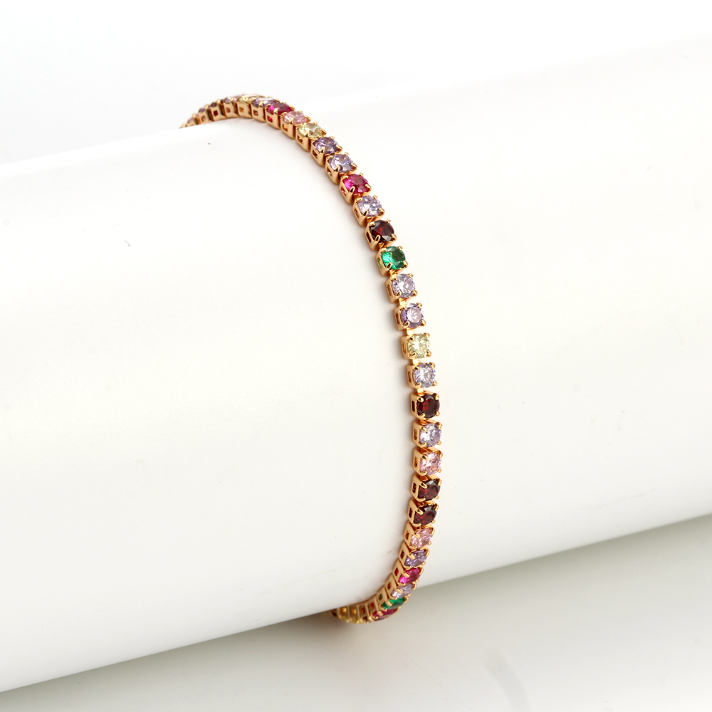 Evil Eye Anklet Feet Bracelet Gold Color Leg Ankle Chain for Women Colorful Micro Pave Zircon Summer Fashion foot Jewelry EY6317 5