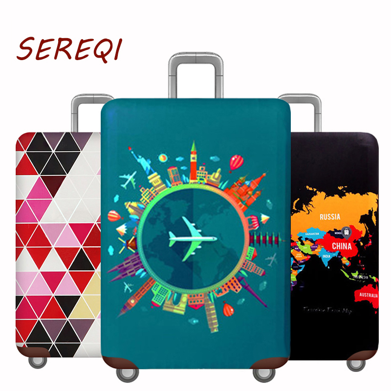 Luggage-Case Protective-Cover Travel-Accessories World-Map Apply-To New-Style 18'-32'