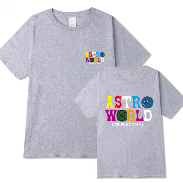 TRAVIS SCOTTS ASTROWORLD LOOK MOM I CAN FLY T-SHIRT (5 VARIAN)