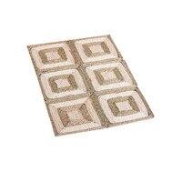 90x60cm Handmade Straw Fiber Rectangular Area Rugs Carpet Living Room Door Mat Floor Rugs Non slip Tatami Foot Mats