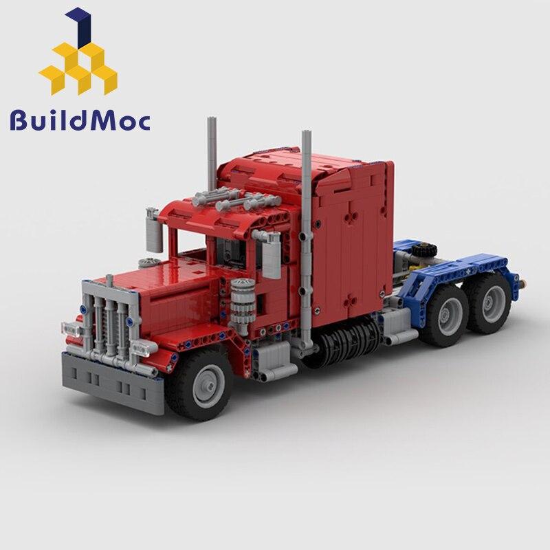 BuildMoc Peter bilt camión para MOC 24330 379 lambeghini Legoings construcción bloques juguete Kit DIY educativo niños cumpleaños regalo-in Bloques from Juguetes y pasatiempos    1