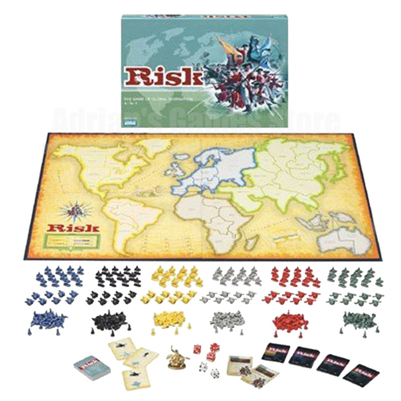 RISK War Board Game - Dominación global Juegos de mesa de estrategia Risico / Risco Table Games 2-6 Players 30Min English Version