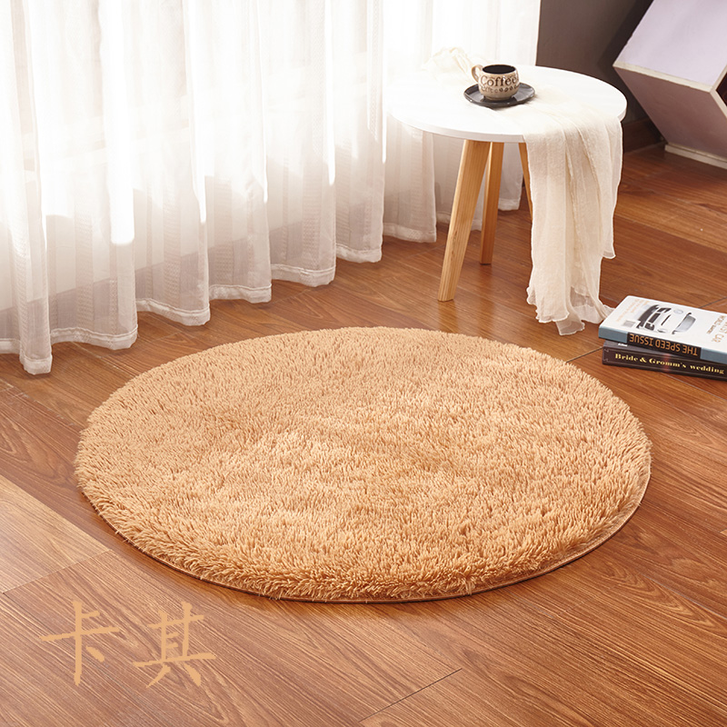 Colorful Living Room Floor Rugs Round Resistant Mats Soft