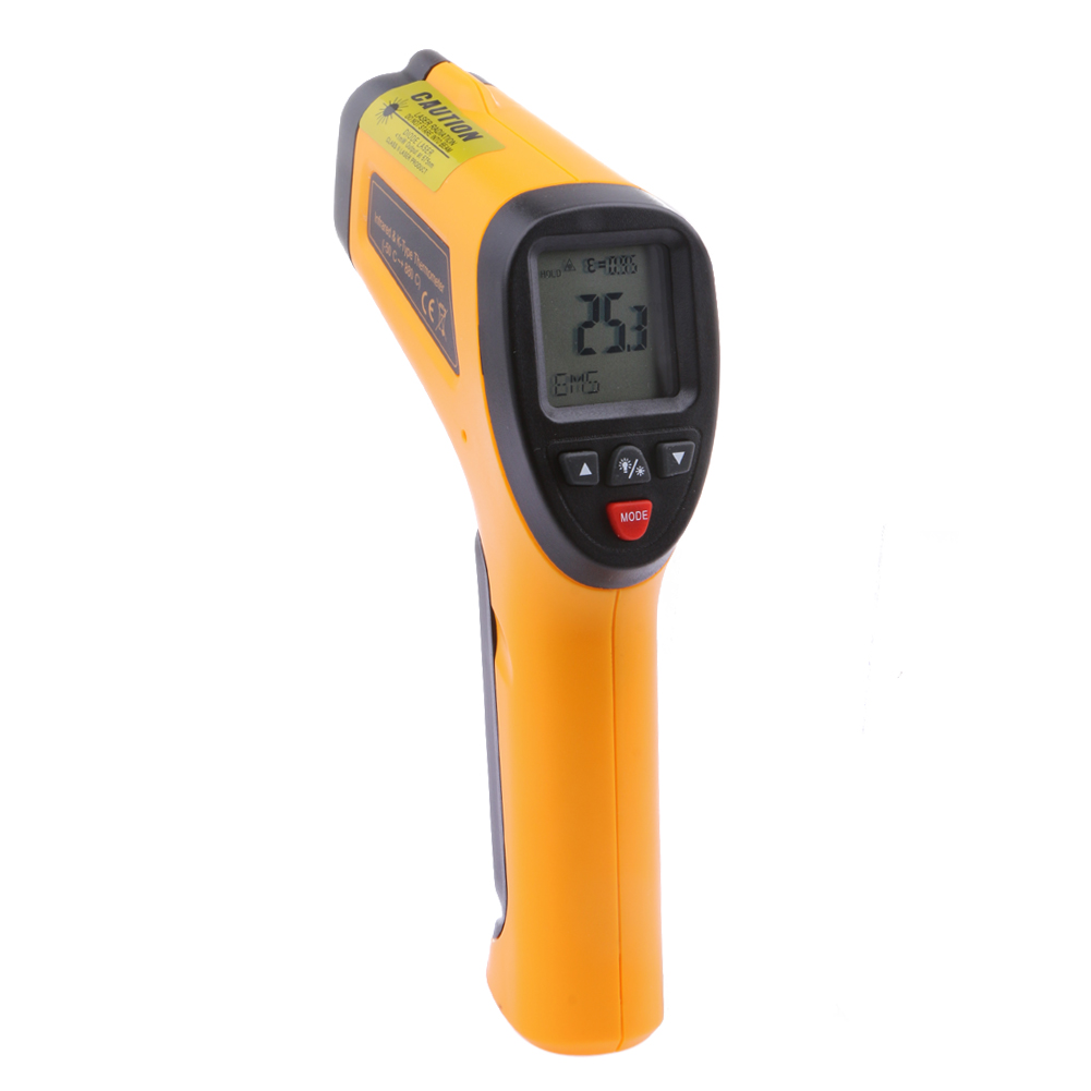 High Temperature Infrared Laser Thermometer LCD Display with Backlight Type K Automatic Capture Emissivity for Targeting  цены
