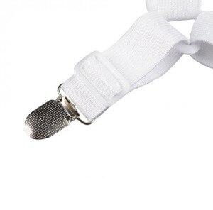 Image 4 - 4Pcs Elastische Laken Grijpers Clip Matrashoes Dekens Houder Fasteners Antislip Riem Clips Huishoudtextiel Gadgets