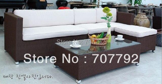 2017 estilo moderno muebles de ratán patio terraza simple sofá de la ...