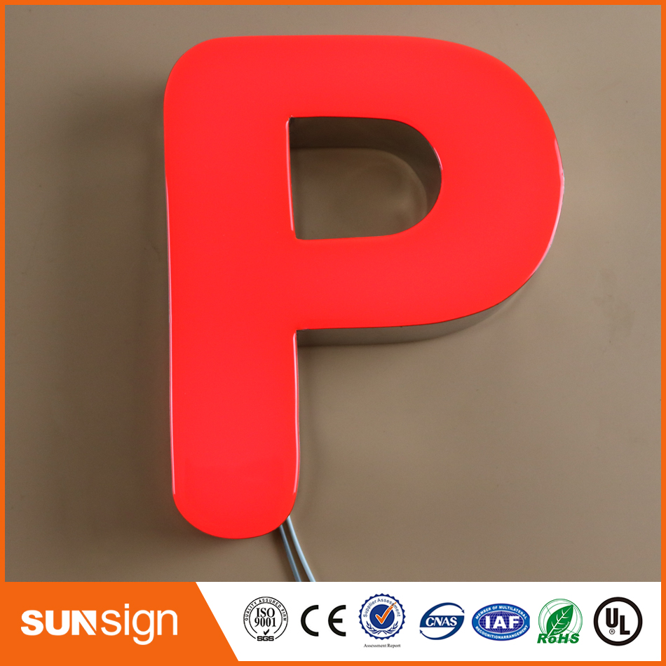 Decorative Wall Letters Resin Led Sign