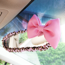 ФОТО  Summer little girl cute mocmoc car rearview mirror cover  pink leopard car decoration automobile accessories MOC-G06