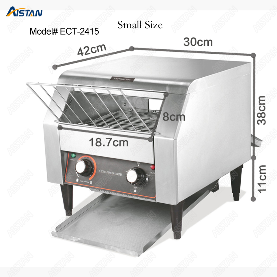 ECT2415 commercial electric conveyor bun bread pizza cookie toaster oven machine for catering equipment electric conveyor toaster ct 150 conveyor toaster oven 150 180 slices of bread 1hr