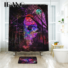 купить IBANO Skull Shower Curtain Waterproof Polyester Fabric Bath Curtain For The Bathroom Decoration For The Halloween Wedding дешево