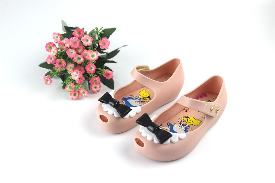 Summer 2018 Mini Melissa NEW Cute Bowknot Bow Jelly Sandals Bow Princess Shoes Sandals for Children Shoes